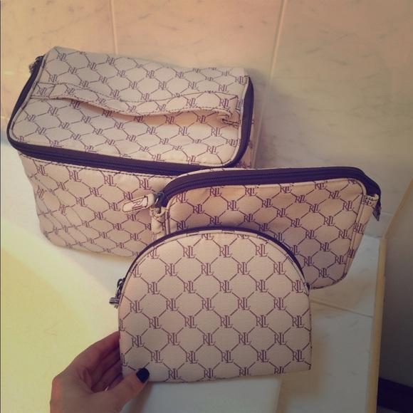 92b83cad1dad Lauren Ralph Lauren Handbags - Used- Ralph Lauren set of 3 makeup case